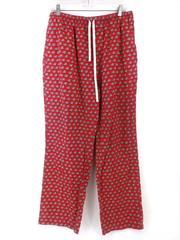 VINEYARD VINES 100% Cotton Lounge Pants Woody and Tree Christmas Print Red Lg