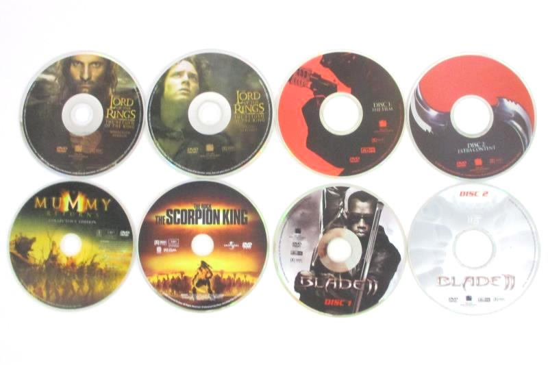 Lot of 5 Action DVDs Blade II The Lord Of The Rings The Mummy Returns