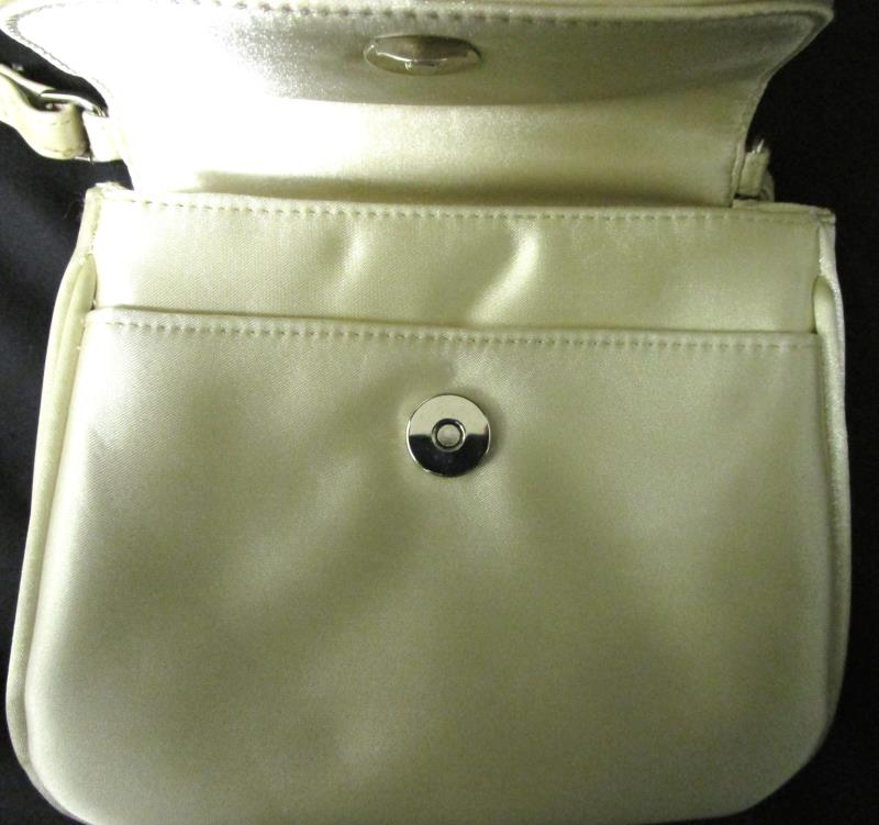 Shoulder Purse With Pockets By Coletta In Golden Pearl 7.5''