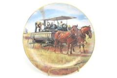 Water Wagon Emmett Kaye-Farming The Heartland Hanging Plate Danbury Mint F2437