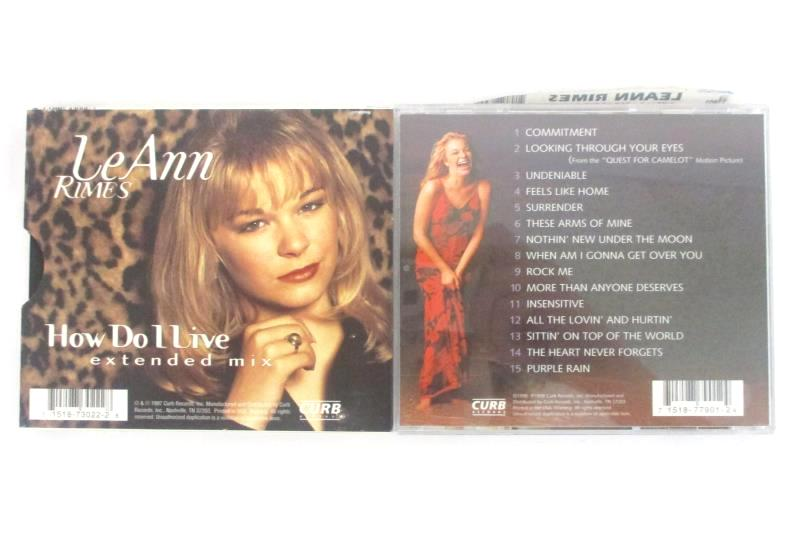 Lot Of 2 Leann Rimes CDs Sittin' On Top Of The World  How Do I Live Extended Mix