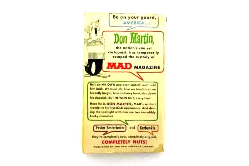 Lot of 2 Mad Books Mad's Maddest Artist Steps Out And The Dirty Old Mad