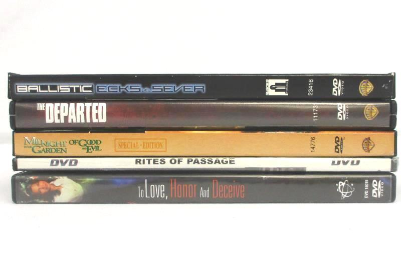 Lot of 5 DVDs To Love Honor And Deceive Rites Of Passage The Departed Ballistic
