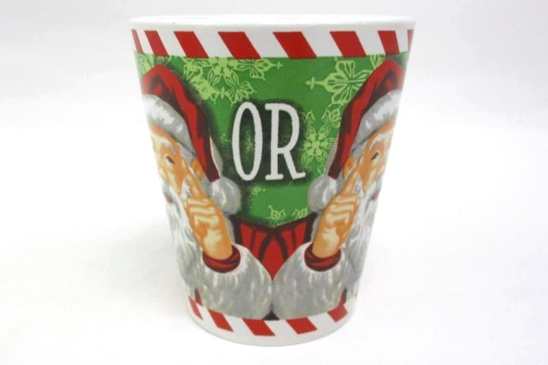 WONDERTREATS Inc Are You Naughty or Nice? Ceramic Coffee Mugs Set Of Two