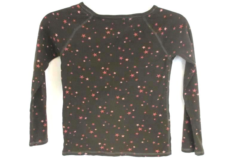 Youth Girl GAP Brown Pink Stars Long Sleeve 100% Cotton Size M/8