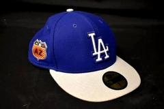 Men's New Era LA Dodgers Baseball Cap Blue Grey Textured 100% Polyester Size 7