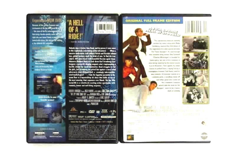 Lot of 4 DVDs The Spy Who Loved Me Rebel Without A Cause Soup To Nuts War Army