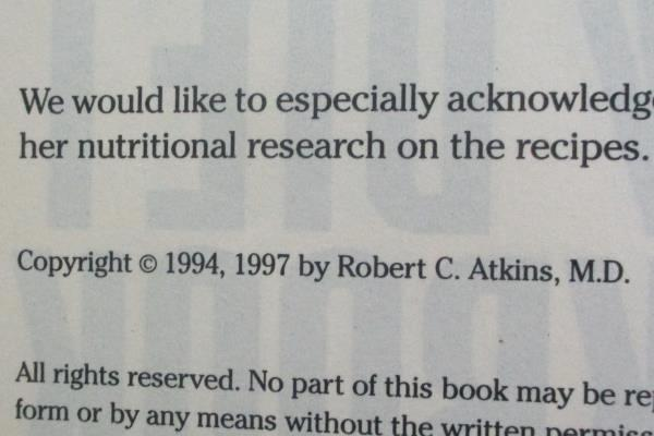 Lot Of 2 Atkins Diet Books: Dr. Atkins New Diet Cookbook & Atkins For Life