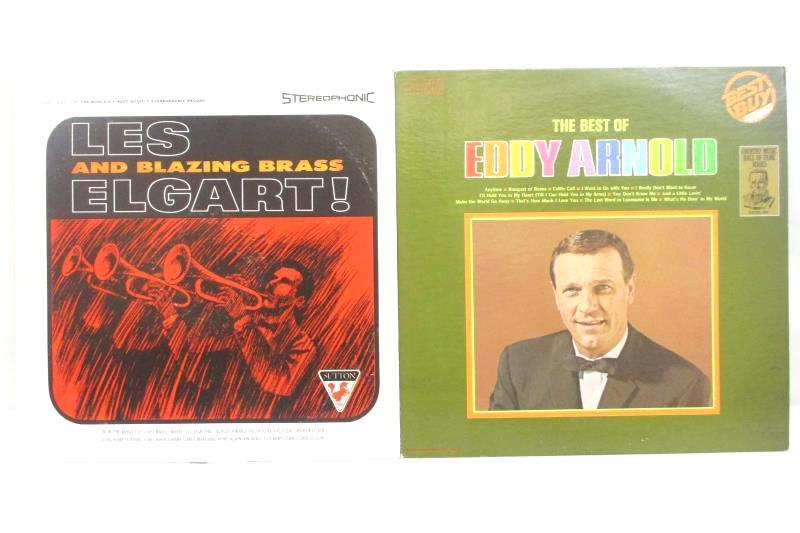 "Lot of 7 Eddy Arnold Brass Bagpipes John Starnes Jerusalem 12"" Vinyl Record"