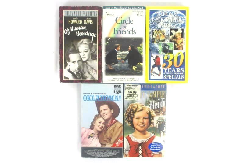 Lot 5 VHS Circle Of Friends Heidi Oklahoma National Geographic Of Human Bondage