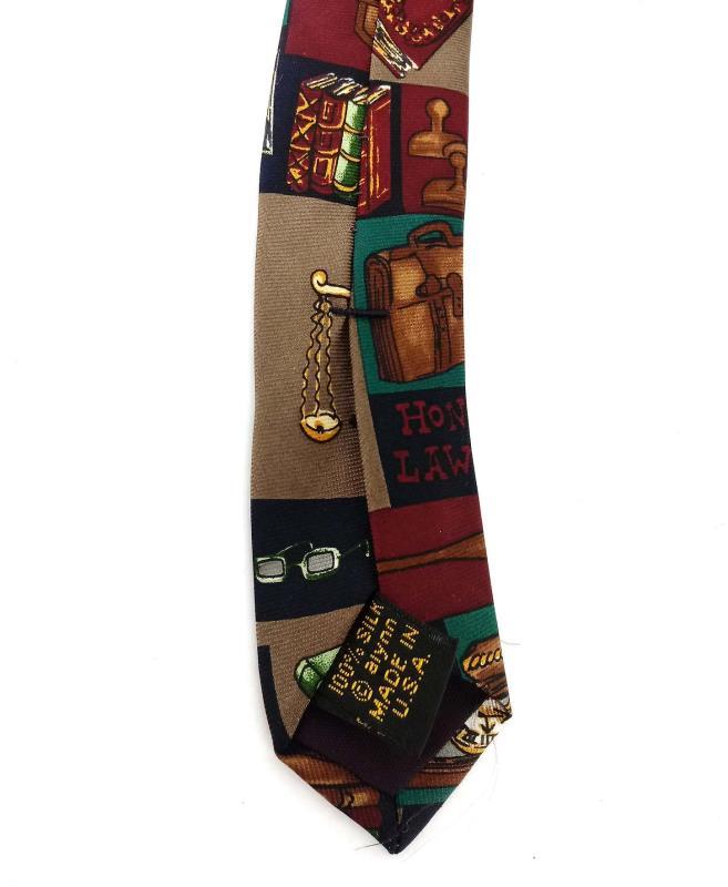 "ALYNN NECKWEAR ""Law Office"" 100% Silk Neck Tie Print for Lawyer or Paralegal"