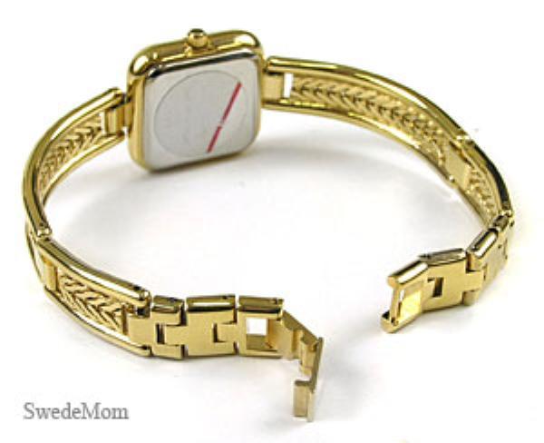 BERNEY Swiss Ladies Gold Overlay Bracelet Watch NEW