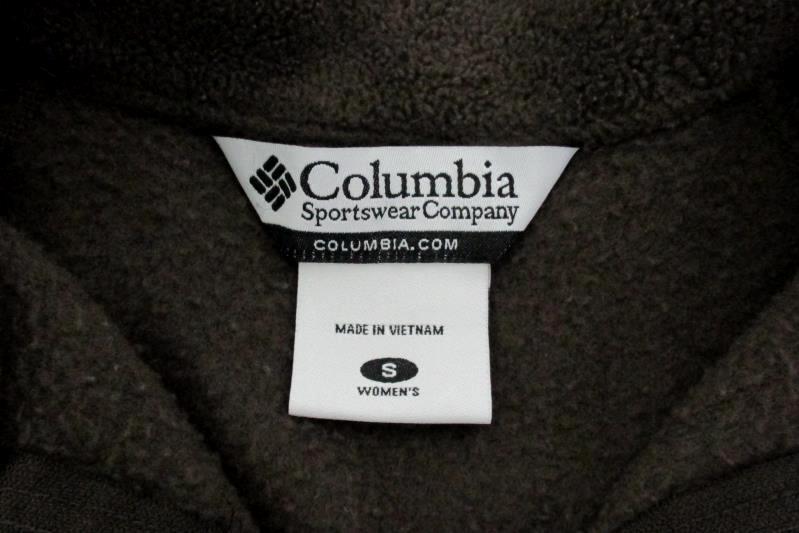 Winter Zip-Up Jacket Columbia Sportswear Brown Polyester Women's Size S