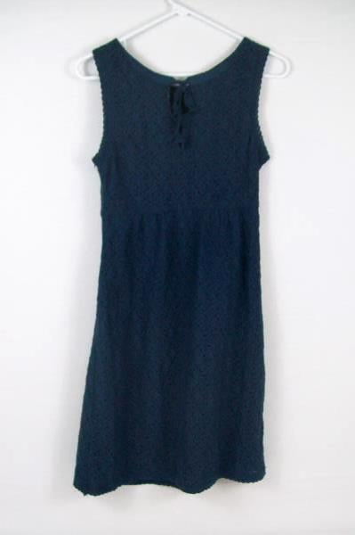 Romy Women's Blue Two Layer Lace Tea Knee Length Dress Size XS