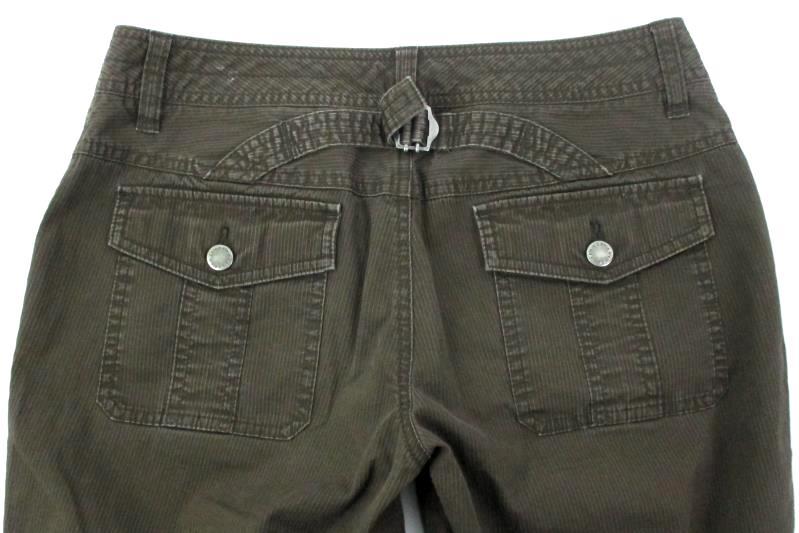 Calvin Klein Brown Corduroy Pants Low Rise Cotton Women's Size 6