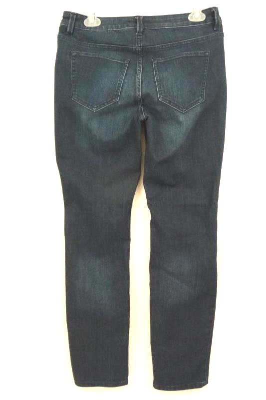 Liz Claiborne Women's City Dark Blue Jeans Ankle  5-Pocket Size 4