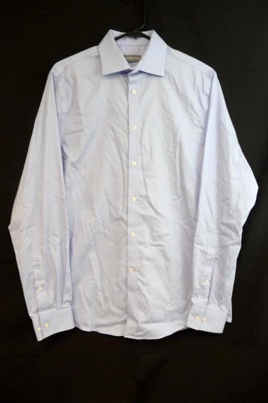 Men's Michael Kors Regular Fit Airsoft Stretch Button Shirt 15 1/12 34/35 Blue