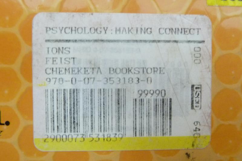 Psychology Making Connections Hardcover Gregory J. Feist Erika L. Rosenberg