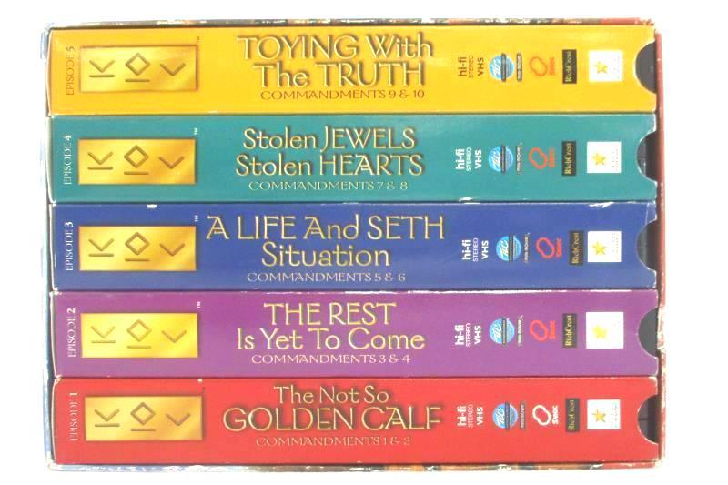 Lot of 5 Kids Ten Commandments VHS Box Set 2003 Trinity Broadcasting Network