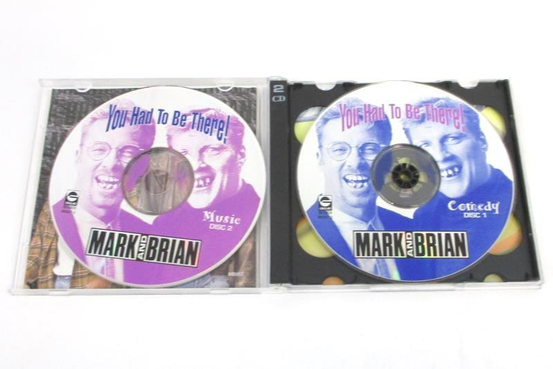 """Vintage 1998 Autographed Mark And Brian """"You Had To Be There"""" CD Music & Comedy"""