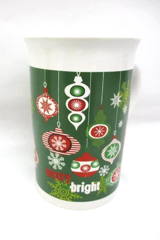 Lot of 2 Christmas Mugs Royal Norfolk Night Bright Oneida Jingle Bells