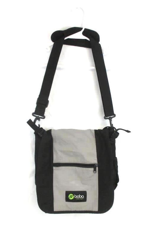Boba Diaper Bag Pack Removable Shoulder Strap Multiple Pockets Black Gray
