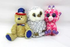 Lot Of 3 Ty Beanie Plush Toys Independence Owlette Twigs Dated 2000 2018
