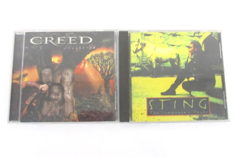 Lot of 2 CD's Creed Weathered And Sting Ten Summoner's Tales CD