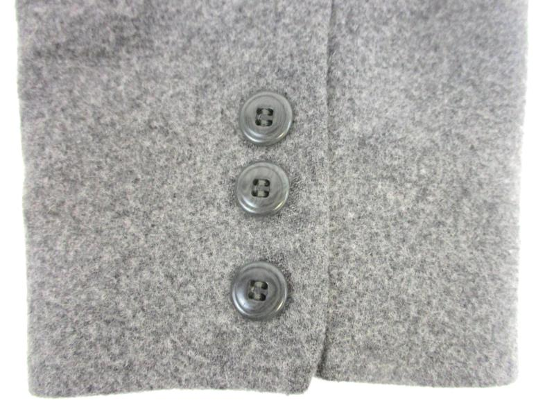 Charters Club Women's Blazer Jacket Heather Grey Wool Blend Size 8