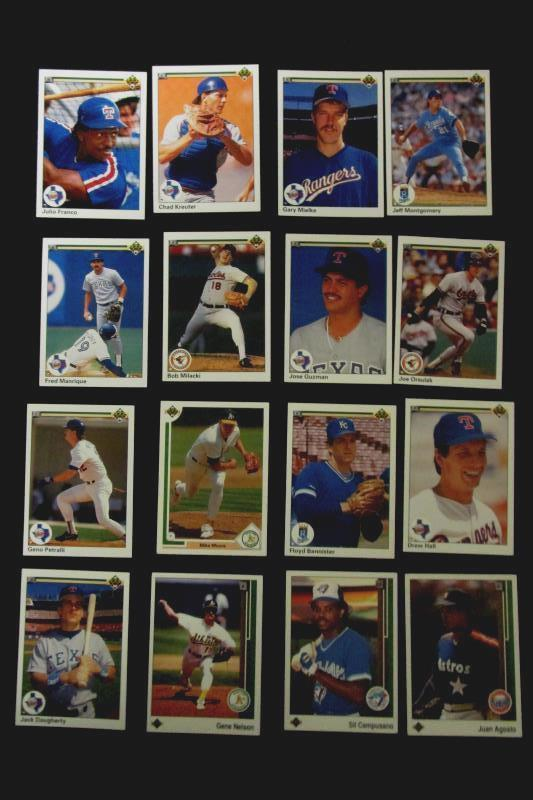 Lot of 32 Vintage 1990 and 1991 Upper Deck Baseball Cards with Duplicates