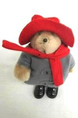 1994 Bear Jointed Gray Jacket Red Hat 5 inches Tall Kids Gifts