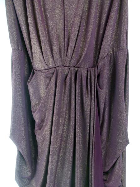 "IGIGI Cocktail Party Dress ""Nora""  Purple & Gold Sleeveless  14/16 Plus NWT"
