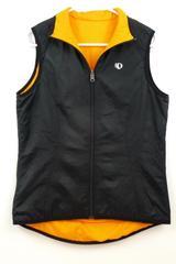 Pearl Izumi Men's Elite Series Athletic Vest Reversible Black Orange Zip Sz M