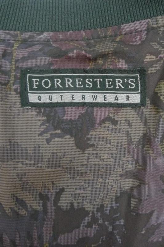 Forrester's Outerwear Men's Golf Pullover Black Floral Print Wind Jacket Sz L