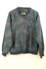 Forrester's Outerwear Women's Golf Pullover Blue Leaves Print Wind Jacket Sz S