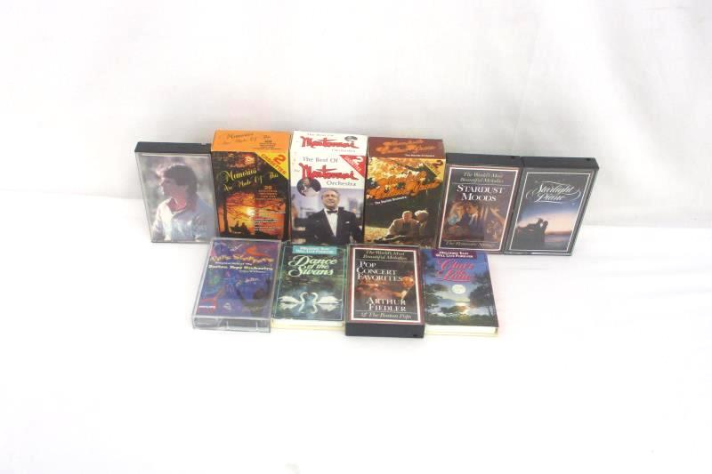Lot of 10 Cassette Tapes Orchestra Pop and Classical Oldies
