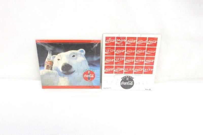 Lot of 2 Palzer's Pocket Puzzles Coca-Cola Different Language, Polar Bear