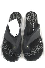 Columbia Lima Black Flip Flops Sandals Grey Women's Size 7 (Original Box)