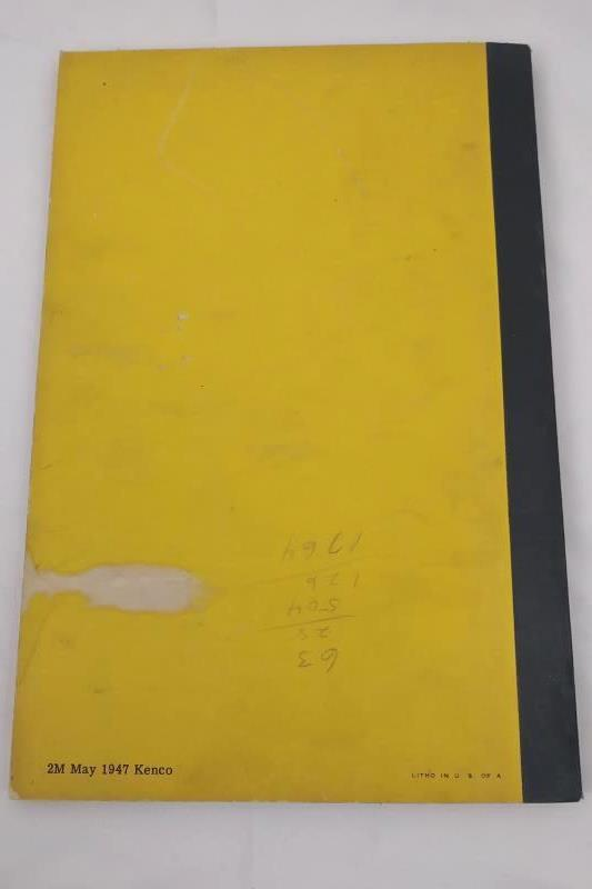 Vintage 1947 Athey Model 3 Force-Feed Loader Operating & Maintenance Manual S-21
