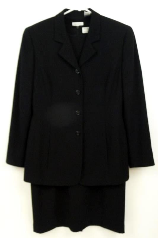 Preview Collection Women's Black Dress Suit Blazer Set Size 10 Nordstrom Career