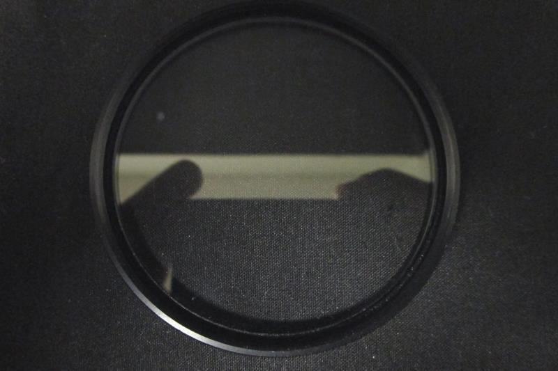 Sunpak 62mm UV Lens Filter Black and Clear Threaded