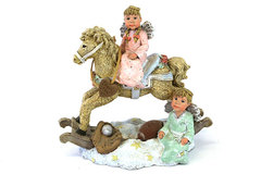 Sarah's Attic Limited Edition Horsin Around Figurine Signed