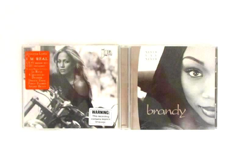 Lot Of 2 Brandy Never Say Never And Jennifer Lopez I'm Real CD