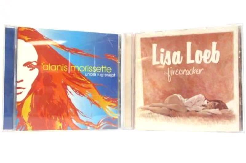 Lot Of 2 Alanis Morissette Under Rug Swept And Lisa Loeb Firecracker CD