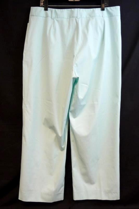 J Envie New York Women's Mint Wide Leg Dress Pants Slacks Sz 18 Striped with Tag