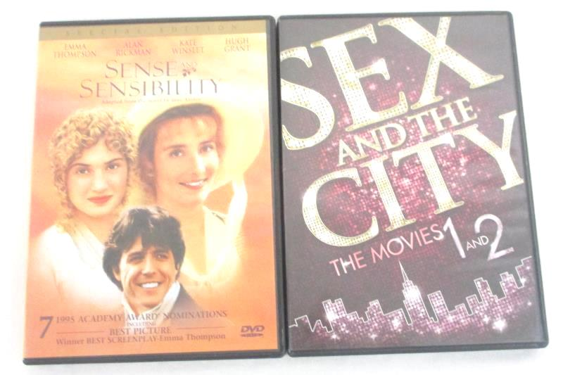Lot of 2 Sex And The City The Movies 1 And 2 DVD And Sense And Sensibility DVD
