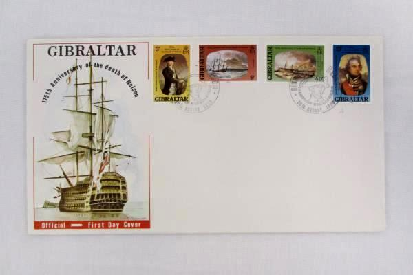 1980 Gibraltar International FDC Lord Nelson Unused with Philatelic Profile