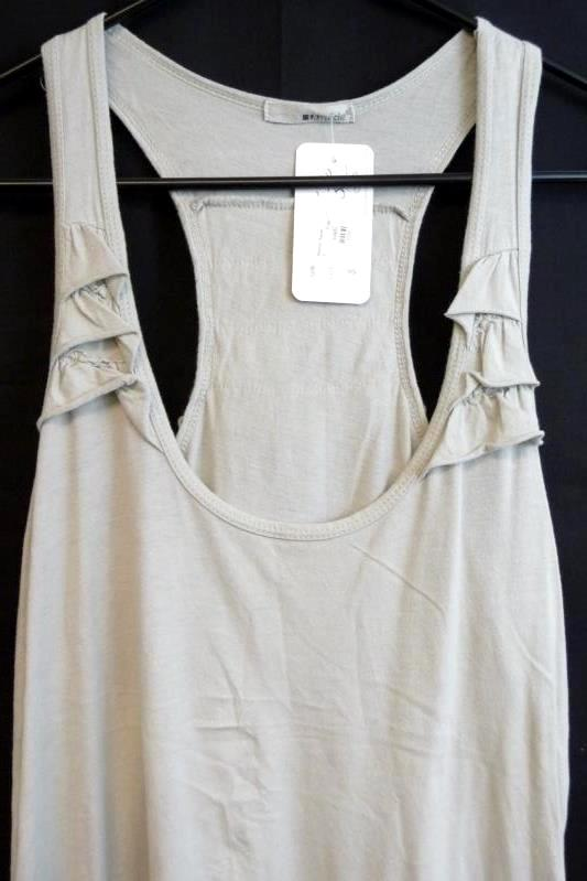 LA Made Madilyn Racer Tank Top Gray Women's Size S New With Tag