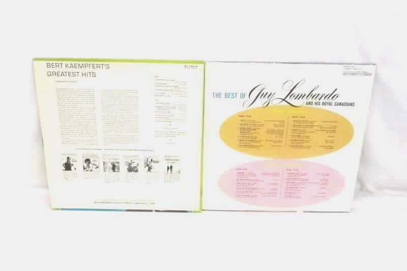 Lot of 4 Vinyl LP Records Guy Lombardo Mancini Bert Kaempfert Rudy Vallee