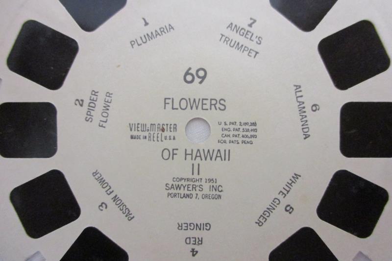 Vintage Sawyer's Inc. View-Master Reel Flowers of Hawaii II Reel 69 7 Wonders
